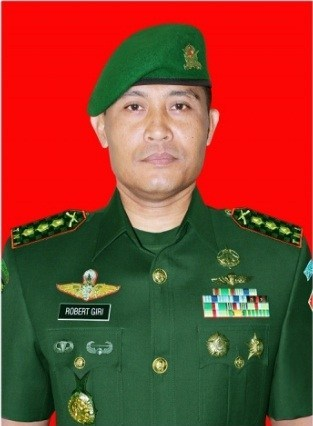 Danrem 131 Santiago Brigjen TNI Robert Giri S.I.P.