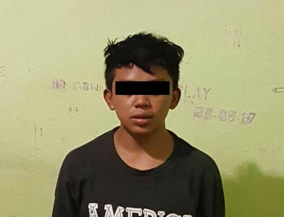 Kurang dari 24 jam Polsek Tombatu berhasil meringkus pelaku penikaman, MW (Melki), 16 tahun, pelajar SMK,warga Desa Molompar Kecamatan Tombatu Timur