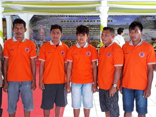 5 warga asal Kecamatan Kepulauan Nusa Tabukan berhasil selamat setelah ditemukan Sabtu Akhir pekan lalu di perairan pulau Biak Provinsi Papua