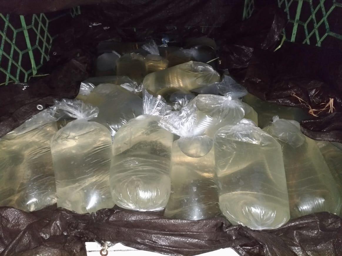 Minuman Keras 1000 Liter yang diamankan oleh Satres Narkoba Polres Minsel