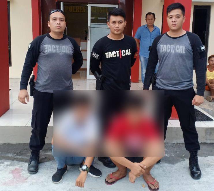 2 (dua) orang siswa pelaku tawuran, FR alias Franky, 19 tahun dan MP alias Mateos, 15 tahun