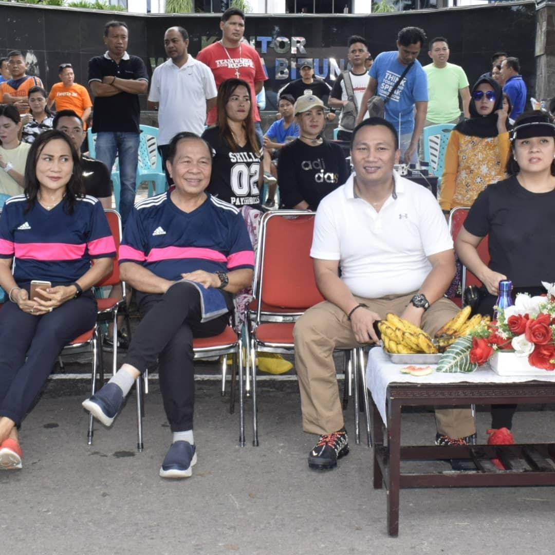 Maximiliaan Jonas Lomban menghadiri acara launching Milineal Safety Road Festival 2019