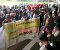 Ratusan Penambang Gelar Unjuk Rasa, Minta Tambang Bowone Dibuka