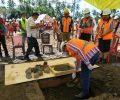 Pembangunan Kantor Bupati Mitra Diawali Dengan Peletakan Batu Pertama Oleh Wabup Joke Legi