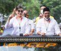 """Dikawal Ribuan Pendukung Paslon Gubernur/Wakil Gubernur """"CEP – SSL"""" Daftar di KPUD Provinsi Sulut"""