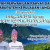 HUT ke-595 Daerah Kepulauan Sangihe, Kakondo Pimpin Rapat Paripurna Istimewa DPRD