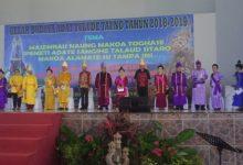 Bupati Sangihe Jabes E Gaghana, saat menghadiri upacara adat Tulude di Jayapura