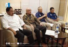 Kepala BKN, Gubernur Kepri, dan Kementerian PAN RB saat menyampaikan sosialisasi tentang P3K di Batam, Rabu (23/1). (Foto: Humas BKN)