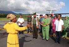 Penyambutan Danrem 131 Santiago Brigjen TNI Robert Giri SIP, Msi