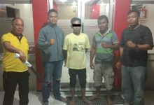 Polsek Tumpaan mengamankan seorang pelaku kasus penganiayaan, AGM alias Adri
