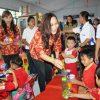 Kunjungi PAUD dan TK,DWP Berikan Makanan Tambahan