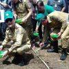 Bupati Tetty dan Wabup Franky Mencanangkan Penanaman Jagung di Luak Desa Tewasen