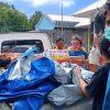 Mapala Anemon Polnustar Salurkan Bantuan Bagi Korban Bencana di Kampung Lebo